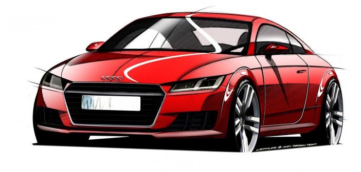 Audi TT 2014 Design-Skizze Front