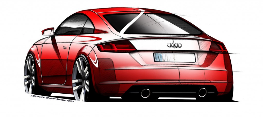 Audi TT Design-Skizze 2014 - Heck