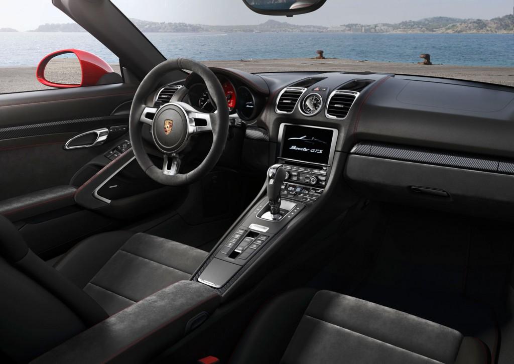 Porsche Boxster GTS Interieur mit schwarzem Leder
