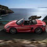 Porsche Boxster GTS mit offenem Dach