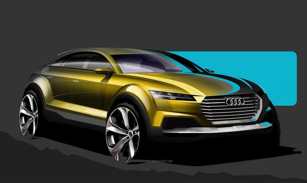 Audi SUV-Coupé Konzept Design-Skizze
