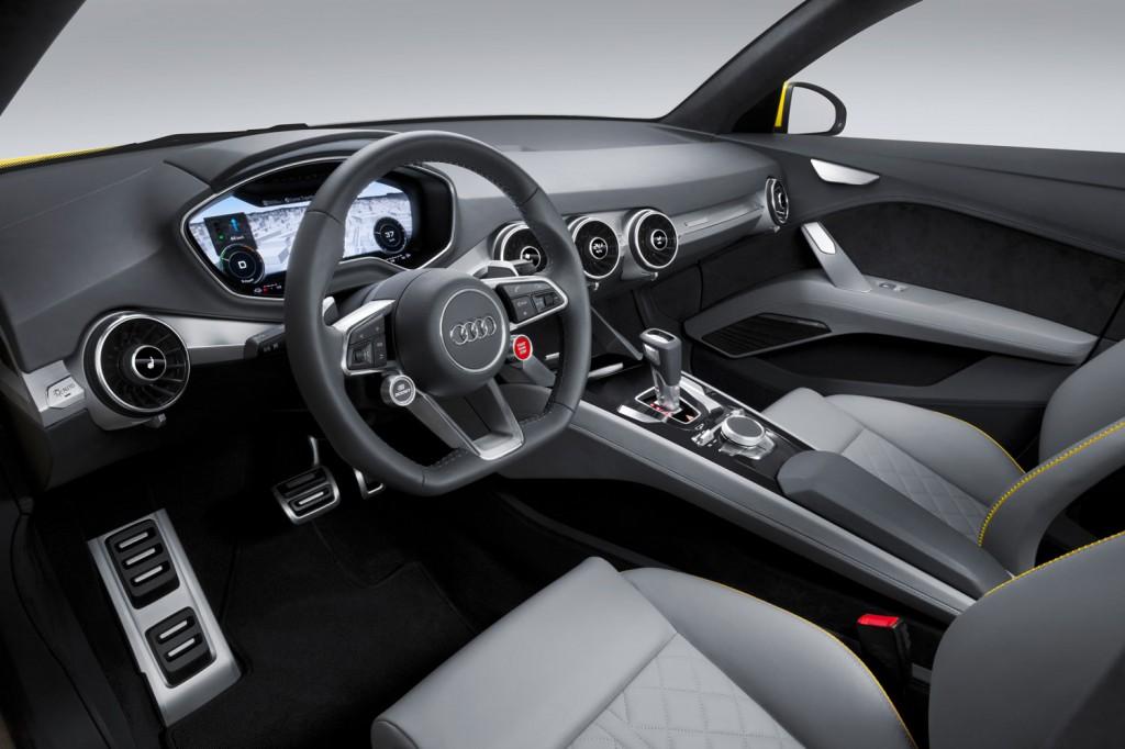 Audi TT Offroad Concept 2014 Interieur-Innenraum und Cockpit