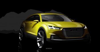 Audi TT Offroad Concept 2014 Skizze Front