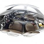 Audi TT Offroad Concept 2014 Interieur-Innenraum Skizze Seite