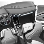 Audi TT Offroad Concept 2014 Interieur-Innenraum Skizze Cockpit