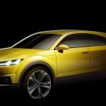 Audi TT Offroad Concept 2014 Skizze Seite
