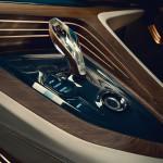 Leicht veränderter Automatik-Wählhebel im BMW Vision Future Luxury