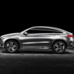 Seitenansicht des Mercedes-Benz MLC C292 in Silber