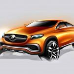 Design Skizze der Front des Mercedes-Benz MLC C292