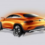 Design Skizze des Hecks des Mercedes-Benz MLC C292