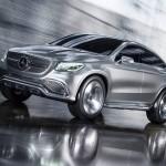 Mercedes-Benz MLC (C292) SUV Coupé Concept in Silber fahrend Front