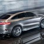 Mercedes-Benz MLC (C292) SUV Coupé Concept in Silber fahrend Heck