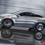 Mercedes-Benz MLC (C292) SUV Coupé Concept in Silber fahrend von der Seite