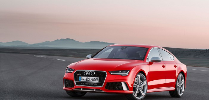 Audi RS 7 Sportback 2014 in Rot mit sportlicher Front