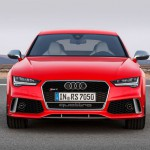 Agressive Front des Audi RS 7 Sportback 2014 in rot
