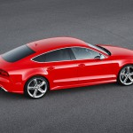 Audi RS 7 Sportback 2014 Seitenansicht in rot