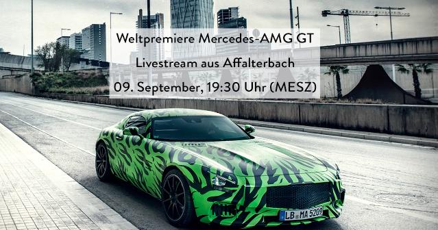 Mercedes-Benz AMG GT – LIVESTREAM