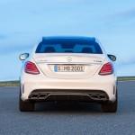 Mercedes-Benz C 63 AMG Limousine Designo Diamantweiß Bright Heck