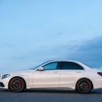 Mercedes-Benz C 63 AMG Limousine Designo Diamantweiß Bright Seite